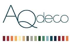 AQDeco - ny hjemmeside. Her ses AQDeco logo.
