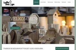Luffe Design - ny hjemmeside. På billedet ses hjemmesidens forside.