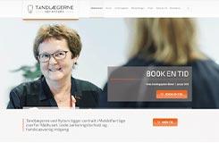 Tandlægerne ved nytorv. Ny hjemmeside. Her ses forsiden.